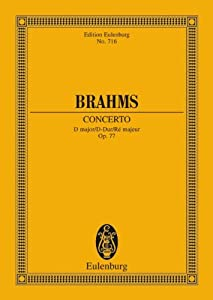 Violin Concerto Op 77 In D Major Miniature Score from Edition Eulenberg