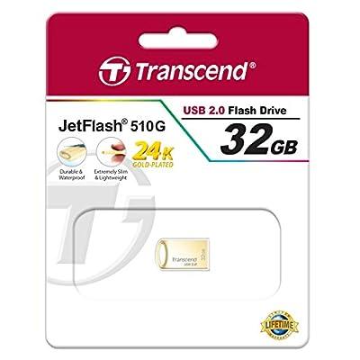 Transcend JetFlash 510 32GB Pen Drive (Gold)