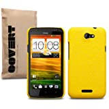 HTC One X &#34;Covert&#34; Gebrandmarkt Gelb Textured PU-Leder Rckseite Fall / Shell / Sheild / Casevon &#34;CELLAPOD&#34;