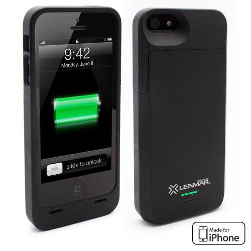 LENMAR - iPhone Batterie - Lenmar Meridian Schwarz - 2300 mAh Batterie-Schale für iPhone 5