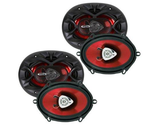 """4) New Boss Ch5720 5"""" X 7"""" 2-Way 450W Car Speakers"""