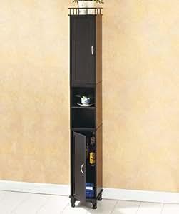 Slim Storage Cabinet Black Bathroom Tall Storage Cabinet Office Products
