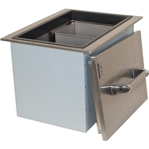 Lion Stainless Steel Drop In Ice Bin With Condiment Tray