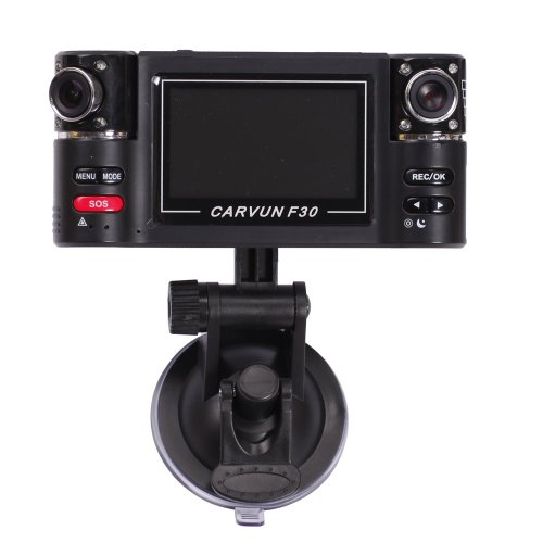 Generic HD720P Vehicle Camera SOS Dual Lens Recorder Car DVR 120°Motion Detect H.264 F20 picture