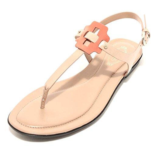 96611 infradito TOD'S pelle gomma scarpa sandalo donna shoes [38]