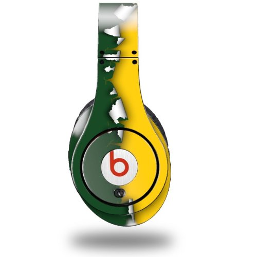 Ripped Colors Green Yellow Decal Style Skin (Fits Original Beats Studio Headphones - Headphones Not Included)