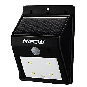 Mpow lampe solaire led avec d tecteur de mouvements - Eclairage exterieur solaire avec detecteur de mouvement ...