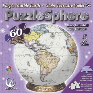 Cheap Fun Unicorn Enterprises A5019_6 Purple Marble Earth 6 Inch Puzzle Sphere 60 pc puzzle (B001341F88)