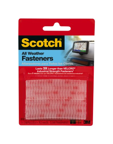 Read About Scotch Reclosable Fasteners, Clear, 1 x 3-Inches, 2 Sets (RF9730)