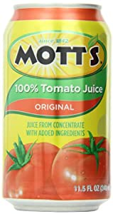 Mott's Tomato Juice, 11.5-Ounce Cans (Pack of 24)