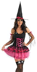 Pink Tutu Witch - Adult Halloween Fancy Dress Costume