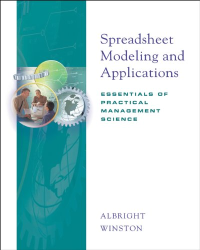 Spreadsheet Modeling and Applications: Essentials