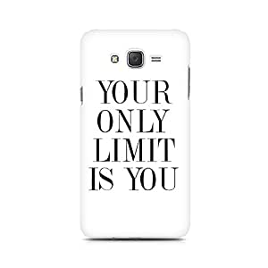 Motivatebox- Your Limit is YOU Premium Printed Case For Samsung J5 -Matte Polycarbonate 3D Hard case Mobile Cell Phone Protective BACK CASE COVER. Hard Shockproof Scratch-