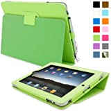 iPad 1 Case, Snugg™ - Cover with Flip Stand & Lifetime Guarantee (Green Leather) for Apple iPad 1