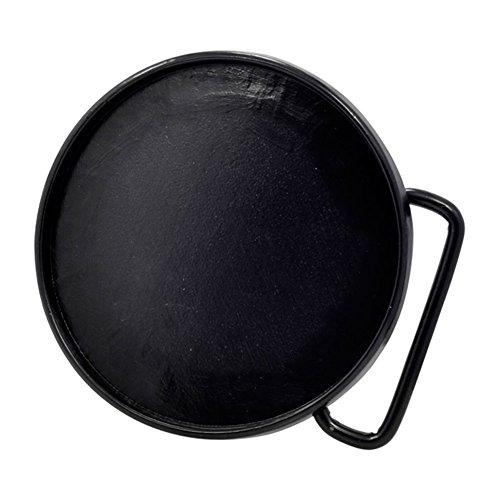 Buckle Rage Adult Unisex Craft Add Design Blank Plate Belt Buckle Circle Black