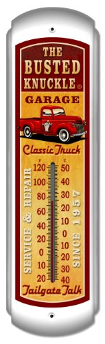 Busted Knuckle Garage BUST066 Old Truck Wall Thermometer