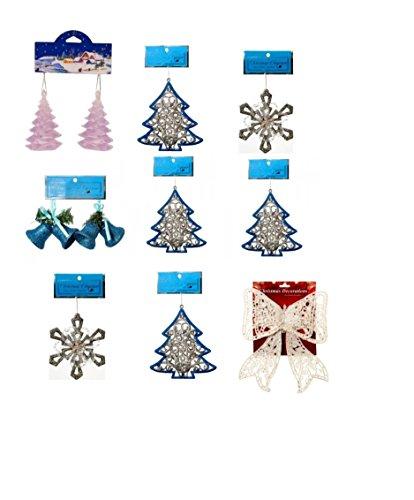 Snowflake Iceland Wonderland Frozen Inspired Christmas Holiday Assorted Ornaments Set