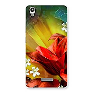 Special Beauty Flowers Print Back Case Cover for Lava-Pixel-V1