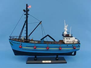 "Cornelia Marie 14"" - Capt Phil Harris - Deadliest Catch Model Fishing Boat - Already Built Not a Kit - Wooden Scale Fishing Boat Replica Fishing Ship Model Nautical Home Beach Wall Décor or Gift - Sold Fully Assembled"