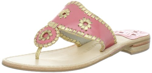 Jack Rogers Women's Montego Glace Thong Sandal,Rose/Gold,6 M US