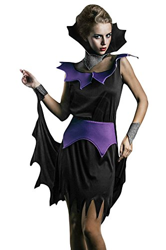 [Women's Gothic Vampiress Lady Vamp Vampira Dress Up & Role Play Halloween Costume (One Size - Fits] (Cheap Sexy Halloween Costumes Ideas)