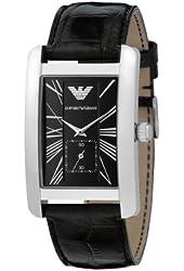 Emporio Armani Men's AR0143 Classic Black Leather Band Watch