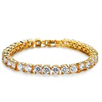 Ananth Jewels Set with Swarovski Zirconia Solitaire Luxury Collection 18 carat Gold Plated Bracelet for Women
