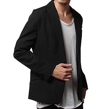 SOYOUS(ソユーズ)スーツ地テーラードジャケット-S-スーツ地ブラック長袖