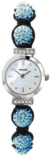 Sekonda Ladies mother of pearl blue Crystalla watch 4716