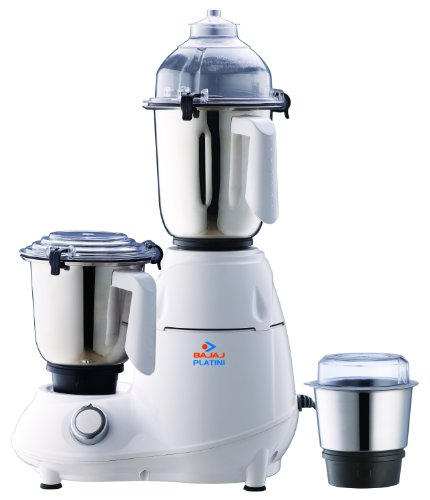 Bajaj Platini PX 74M 750-Watt Mixer Grinder with 4 Jars at amazon