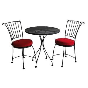 edgewater patio bistro set 3 piece red