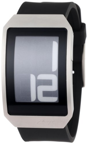 Phosphor Unisex DH01 Digital Hour E-INK Curved Polyurethane Band Watch