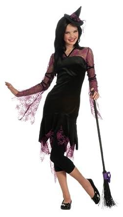 Rubie's Costume Teen Witch Costume, Black/Pink, Standard