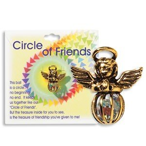 CIRCLE of FRIENDS Guardian ANGEL Lapel Pin/FRIENDSHIP Gift/Jewelry/MADE IN USA