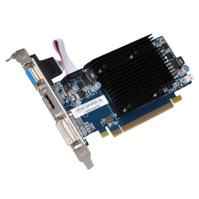 Sapphire Radeon HD 5450 1 GB DDR3 HDMI/DVI-I/VGA PCI-Express Graphics Card 100292DDR3L