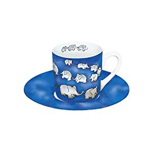 Espressoset Elefantenkette - Blau