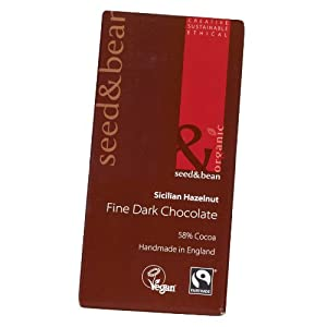 Extra Dark Seed & Bean Vegan Organic Chocolate Bar 85g (Sicilian Hazelnut 58%)