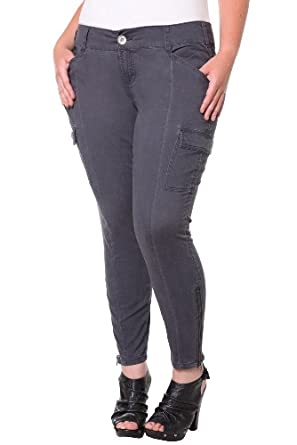 Excellent New Womens Grey Slim Fitted Combat Pants Skinny Cargo Trousers