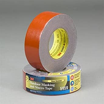 3m 5959 polyethylene over cloth scrim outdoor masking and stucco tape 200 degree f performance for Exterior masking tape