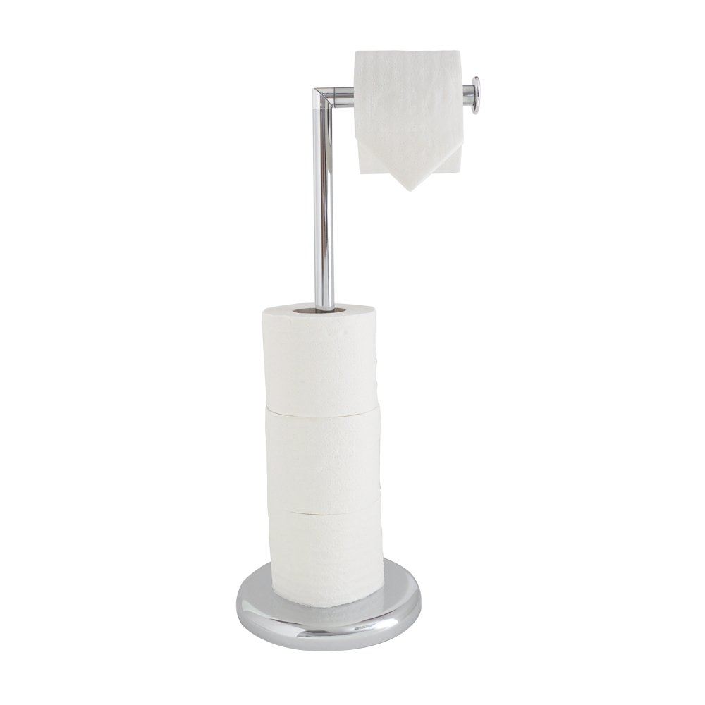 Chrome free standing swivel toilet loo paper roll holder Toilet paper holder free standing