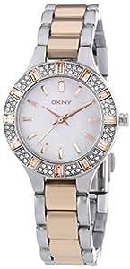 DKNY Damen-Armbanduhr XS Analog Quarz Edelstahl NY8812