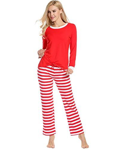 Avidlove-pigiama-da-notte-Donne-Signore-Set-di-Natale-di-cotone-a-maniche-lunghe-e-pavimentazione-striscia