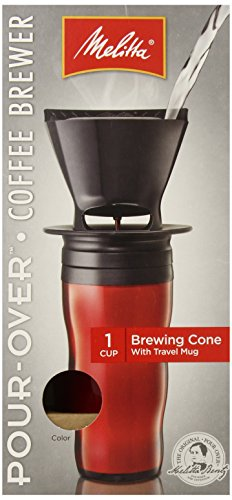 Melitta Coffee Maker Single Cup Pour-Over Brewer with Travel Mug Red (Pack of 2) Best Buy ...