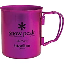 Snow Peak Titanium Single Wall 450 Cup Cookware 000 Purple