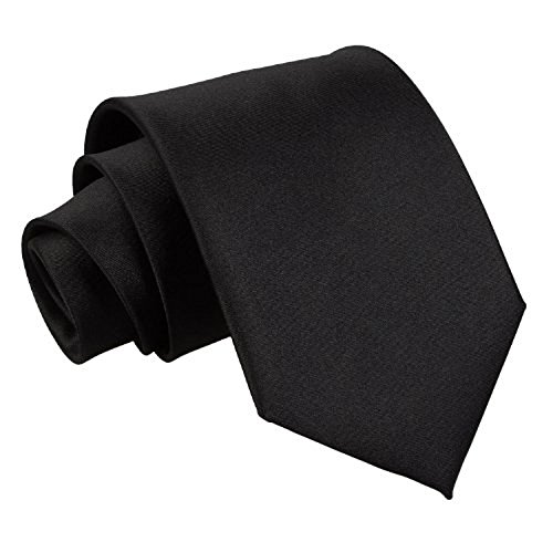 new-plain-satin-mens-extra-long-ties-black