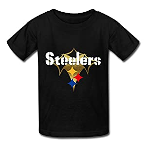 RoberBece-Fine Youth's Pittsburgh Steelers T-shirt Black