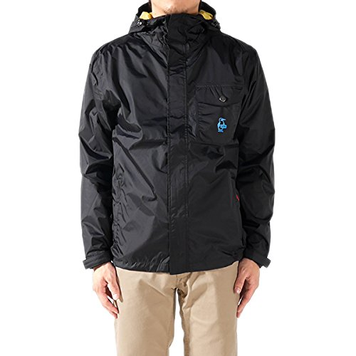 CHUMS チャムス 撥水 マウンテンパーカー Anasazi 2-Layer Rain Jacket CH04-0649 レインジャケット ナイロン ジャケット マウンテン パーカー ジップアップ フルジップ メンズ 正規取扱品 (XL, 1.Black(7501))