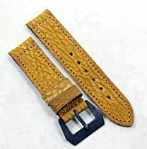 """Pre-V by Mario Paci """"Sand Shark"""" in Original Tan with a sewn in """"Brunitura"""" PVD buckle 24/24 115/75"""