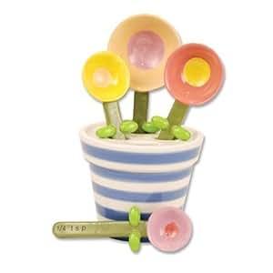 Flower Pot Measuring Spoon Baking Set, Ceramic by 180 Degrees