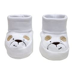 Cambrass Unisex Baby Pull On Shoe, Cuff Top with Embroidered Dog Face
